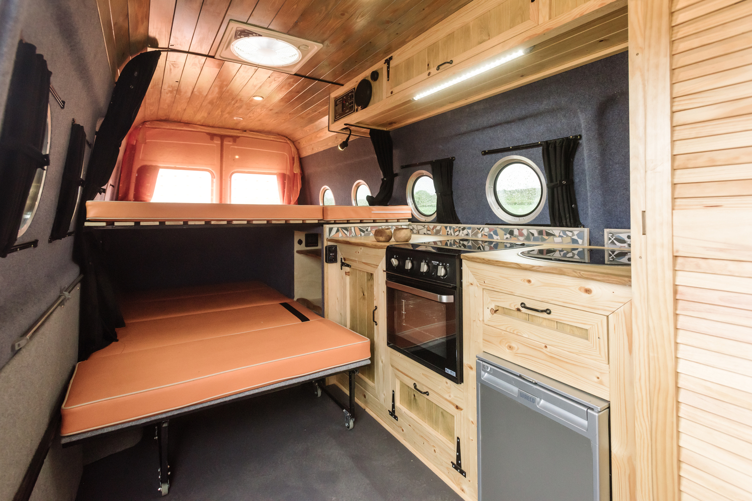 Love Campers Sprinter Conversion - Interior Beds