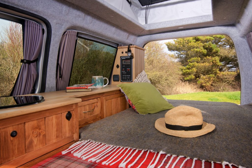 Caddy camper bed down
